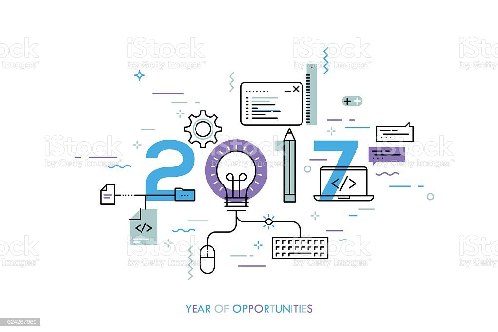 Infographic concept 2017 year of opportunities vector art illustration