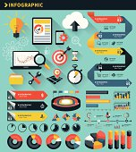 Vector illustration of the Infographic Concept Elements