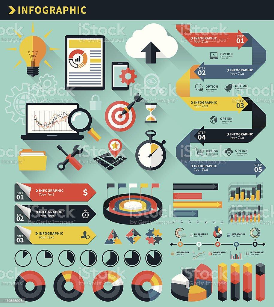 Infographic Concept Elements vector art illustration