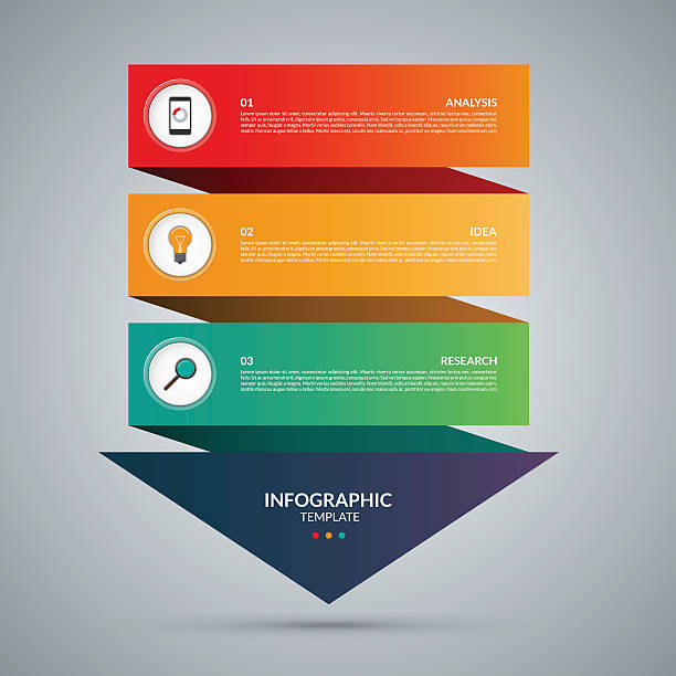 Infographic concept. Vector template with 3 steps vector art illustration