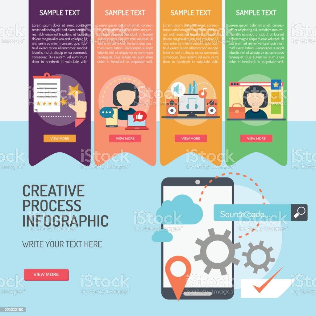 Infographic Creative Process Stock Vector Art & More ...