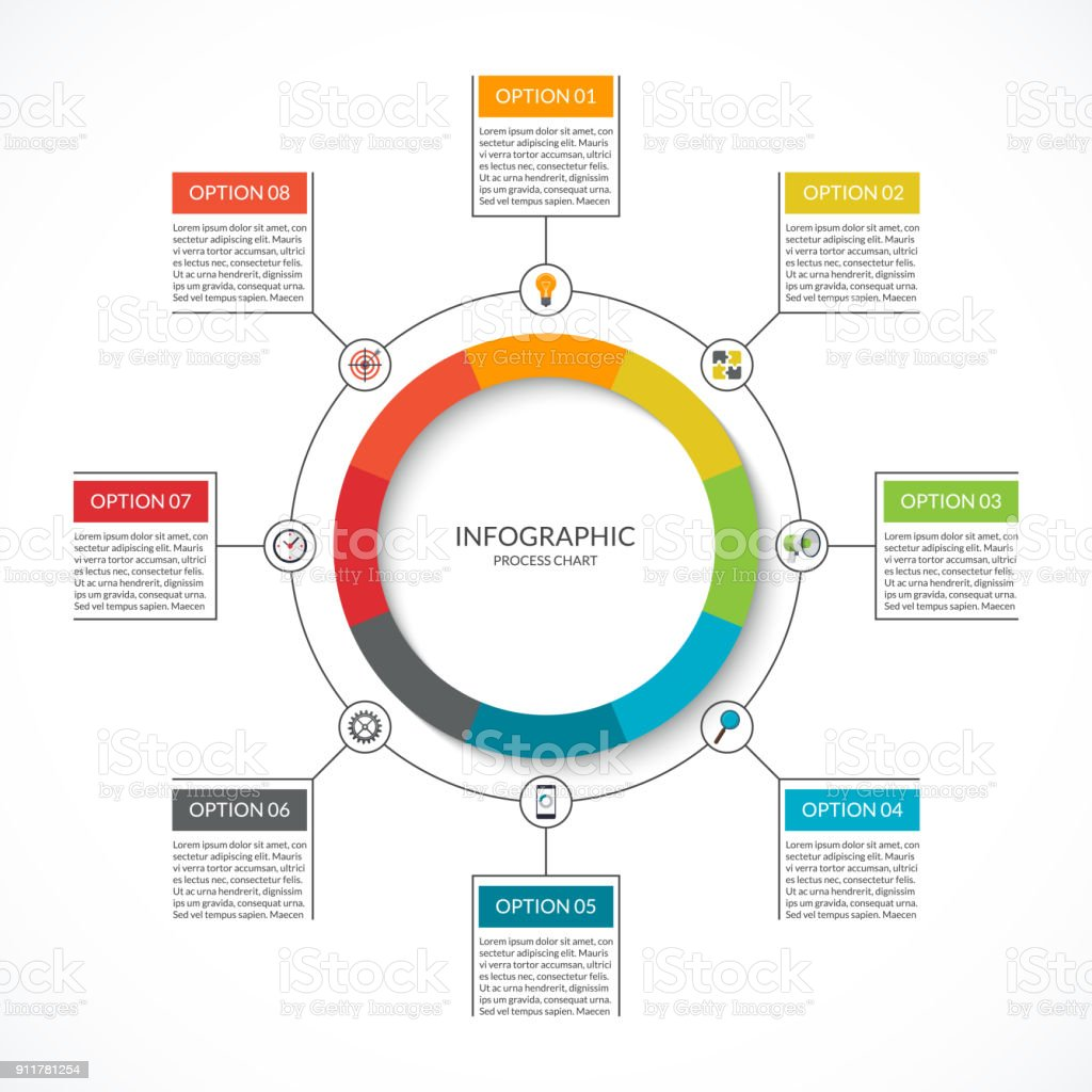 Infographic Cycle Diagram Process Chart With 8 Options