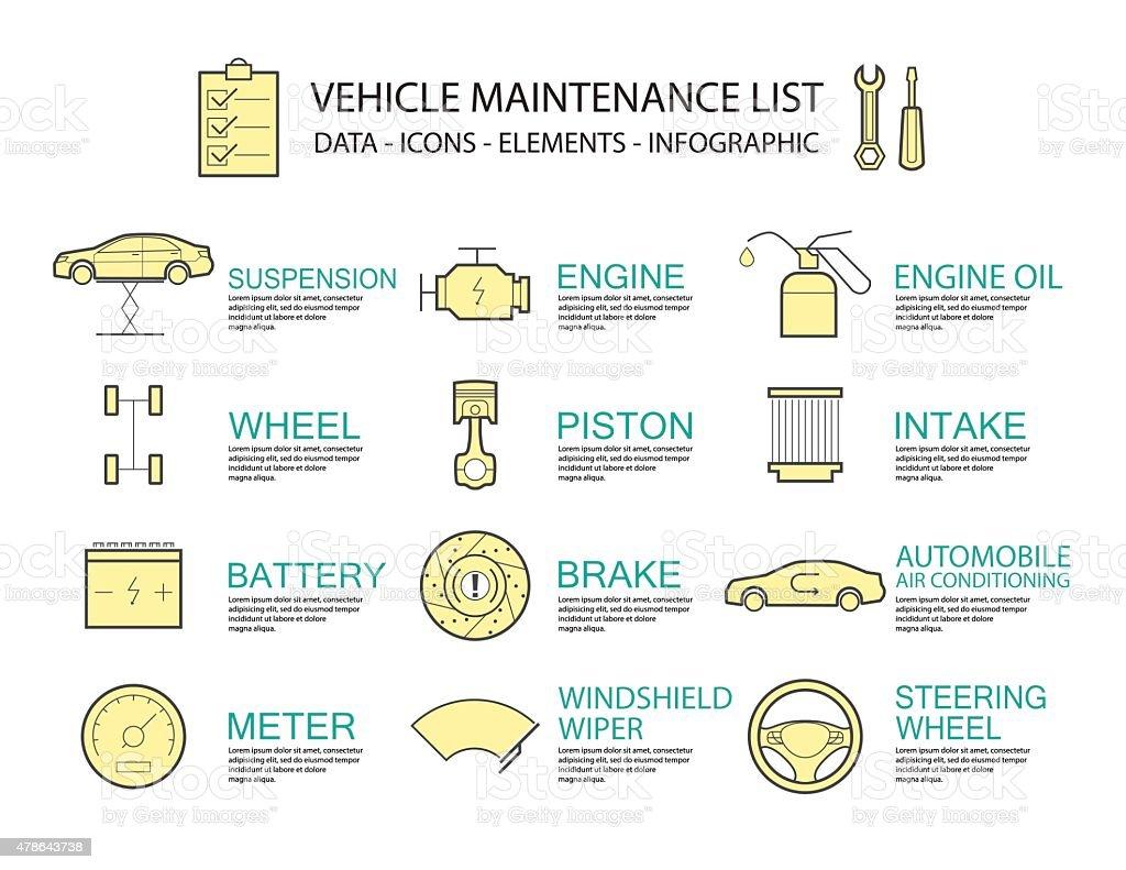 infographic design concept car service element stock vector art