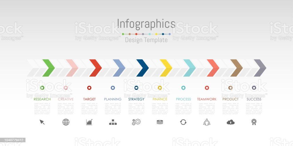 Infográfico de elementos de design para seus dados comerciais com 10 opções, peças, etapas, cronogramas ou processos. Vector Illustration.Infographic elementos de design para os seus dados de negócios com 10 opções, peças, etapas, cronogramas ou pr - Vetor de Banner web royalty-free