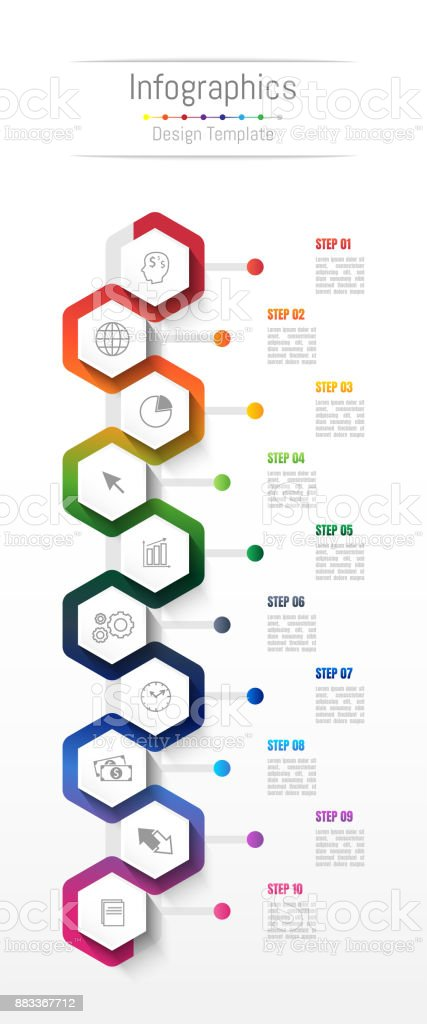 Infographic design elements for your business data with 10 options, parts, steps, timelines or processes. Vector Illustration. royalty-free infographic design elements for your business data with 10 options parts steps timelines or processes vector illustration stock illustration - download image now
