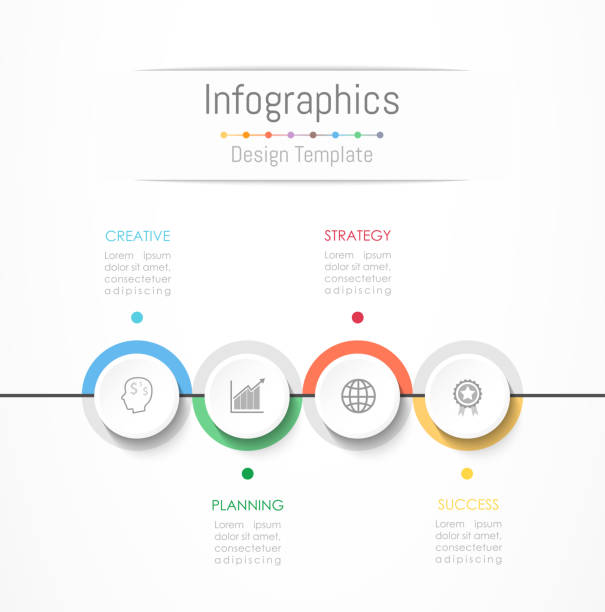 Infographic design elements for your business data with 4 options, parts, steps, timelines or processes. Vector Illustration. Infographic design elements for your business data with 4 options, parts, steps, timelines or processes. Vector Illustration. number 4 stock illustrations