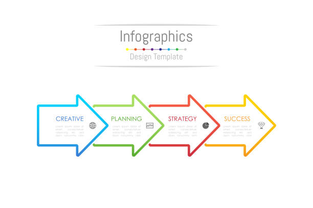 Infographic design elements for your business data with 4 options, parts, steps, timelines or processes. Arrow sign concept, Vector Illustration. Infographic design elements for your business data with 4 options, parts, steps, timelines or processes. Arrow sign concept, Vector Illustration. number 4 stock illustrations
