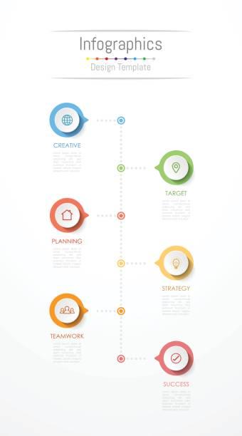 stockillustraties, clipart, cartoons en iconen met infographic designelementen voor uw bedrijfsgegevens met 6 opties, onderdelen, stappen, tijdlijnen of processen. vectorillustratie. - 6 7 jaar