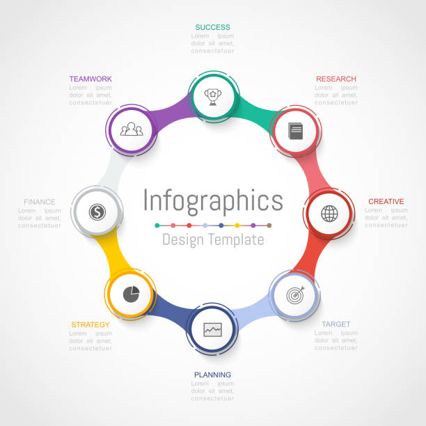 Infographic design elements for your business data with 8 options, parts, steps, timelines or processes. Vector Illustration. Infographic design elements for your business data with 8 options, parts, steps, timelines or processes. Vector Illustration. 8 9 years stock illustrations