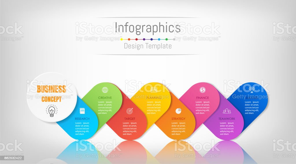 8 Art Elements : Infographic design elements for your business data with options