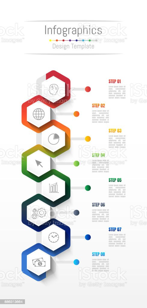 Infographic design elements for your business data with 8 options, parts, steps, timelines or processes. Vector Illustration. royalty-free infographic design elements for your business data with 8 options parts steps timelines or processes vector illustration stock illustration - download image now