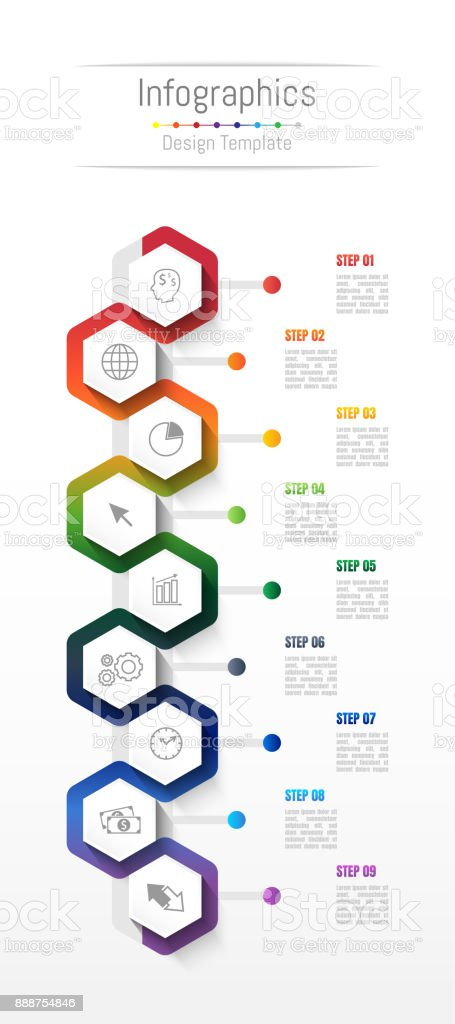 Infographic design elements for your business data with 9 options, parts, steps, timelines or processes. Vector Illustration. royalty-free infographic design elements for your business data with 9 options parts steps timelines or processes vector illustration stock illustration - download image now