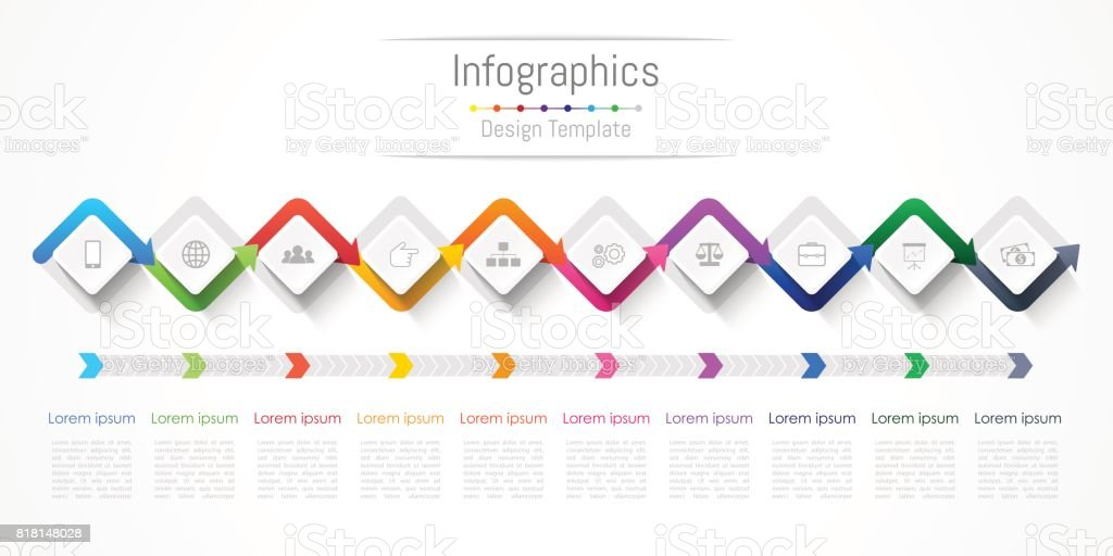 Infographic design elements for your business with 10 options, parts, steps or processes, Vector Illustration. royalty-free infographic design elements for your business with 10 options parts steps or processes vector illustration stock illustration - download image now