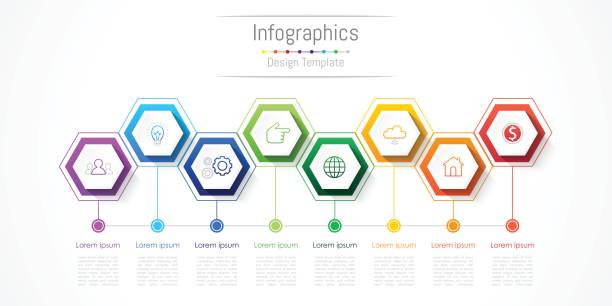 Infographic design elements for your business with 8 options, parts, steps or processes, Vector Illustration. Infographic design elements for your business with 8 options, parts, steps or processes, Vector Illustration. 8 9 years stock illustrations