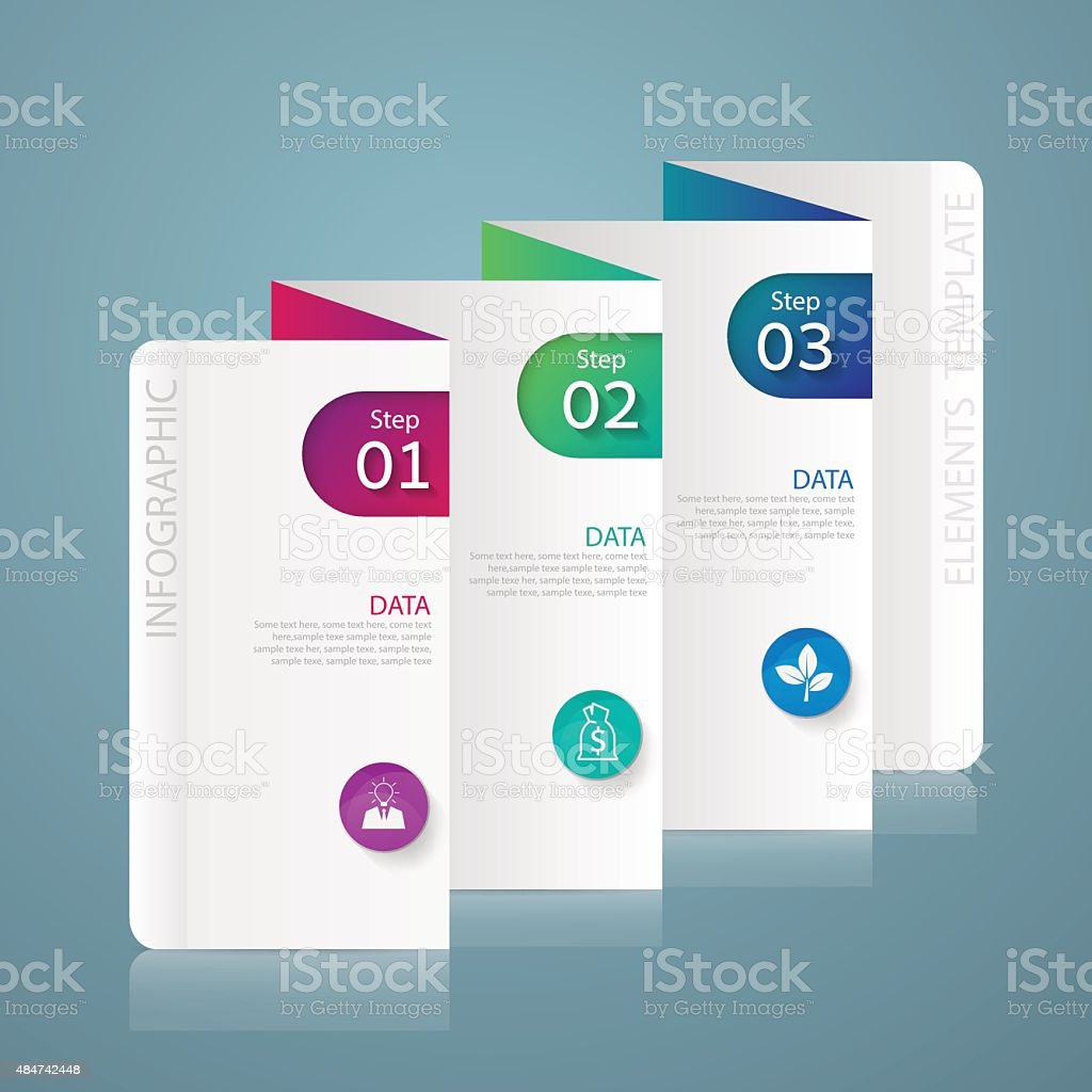 Infographic design marketing  Business concept with 3 options vector art illustration