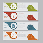 Infographic. Design number banners template graphic or website layout
