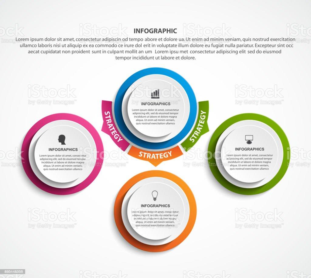Infographic design organization chart template for business presentations, information banner, timeline or web design. vector art illustration