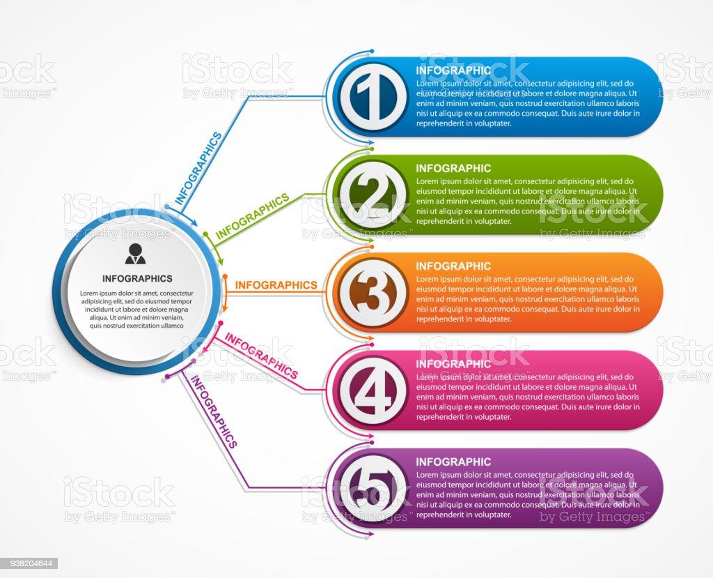 Infographic design organization chart template for business presentations or information banner. vector art illustration