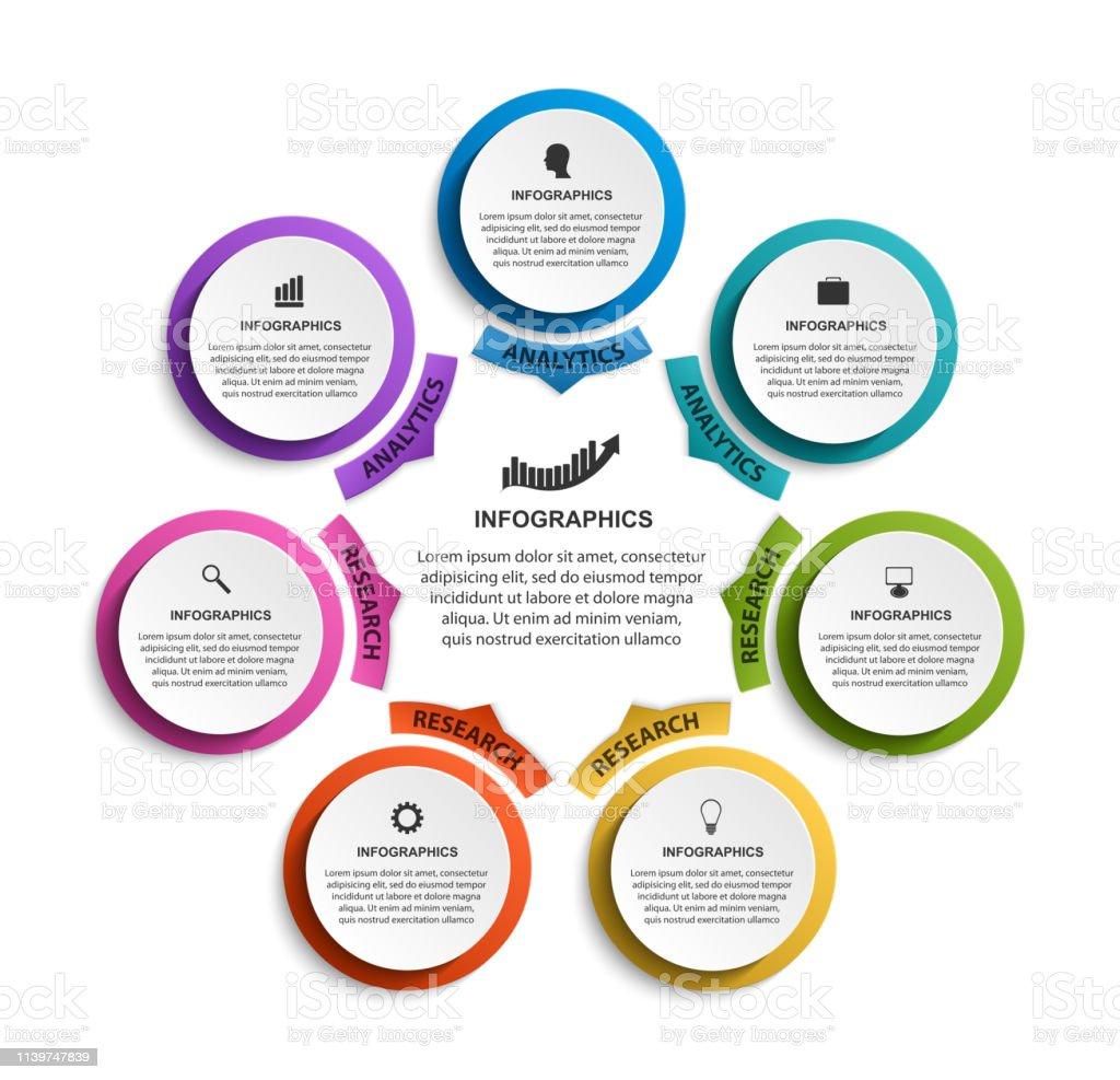 Infographic design organization chart template. Vector illustration.