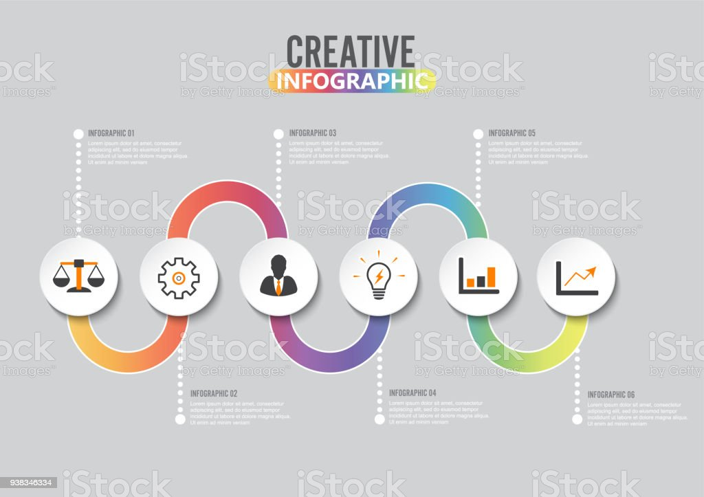 infographic design template and marketing icons template for diagram