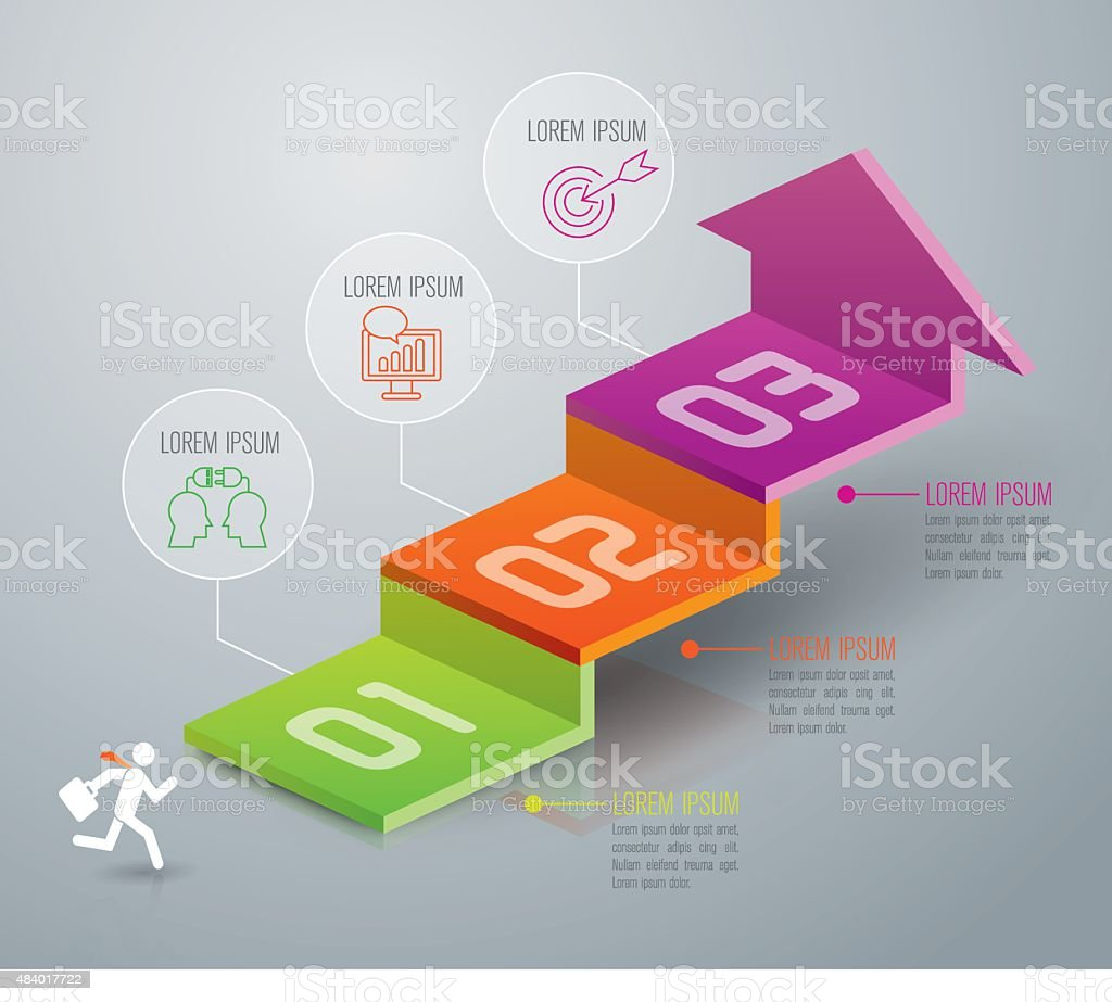 Infografía diseño plantilla y comercialización de iconos. - ilustración de arte vectorial