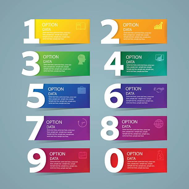 grafika informacyjna szablon projektu i marketingu ikony - dane finansowe stock illustrations