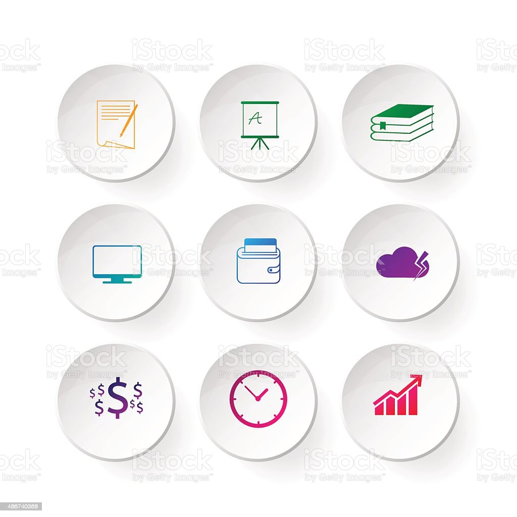 Infographic design template and marketing icons vector art illustration
