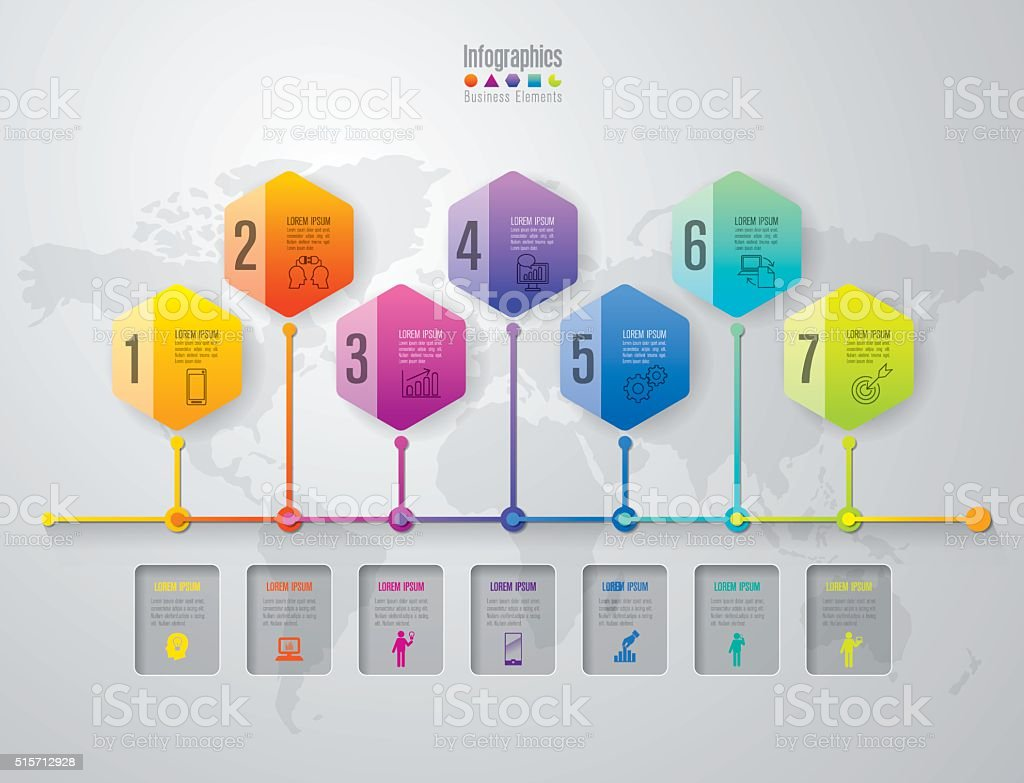 Infographic design template and marketing icons. vector art illustration