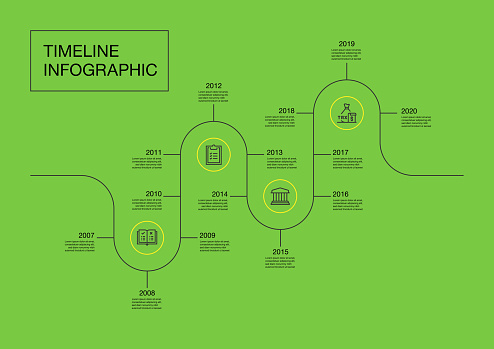 Infographic design template. Auditing, company law, standards, rules icons with 4 options or steps.