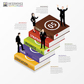 Infographic design template. Business Books. Vector illustration