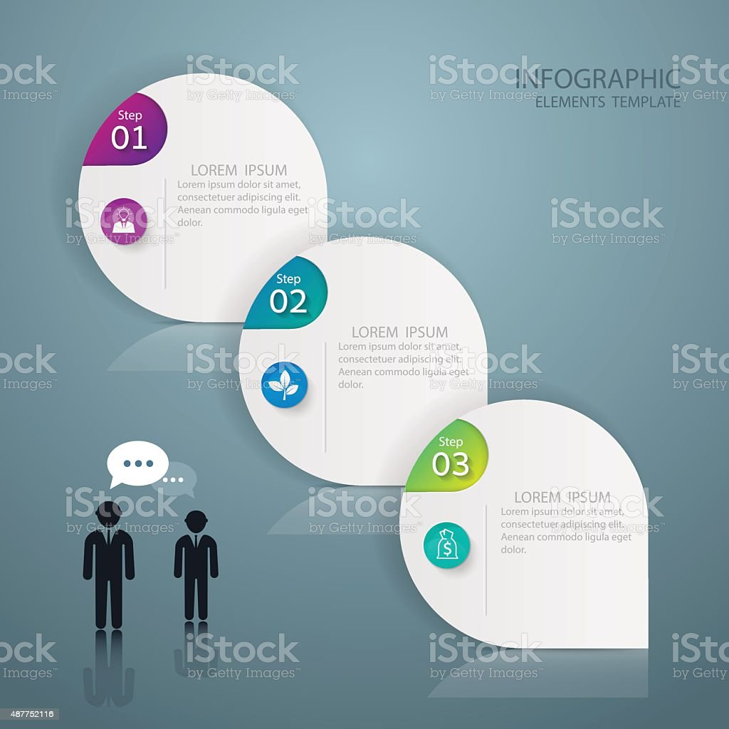 Infographic design template Business concept with 3 options vector art illustration