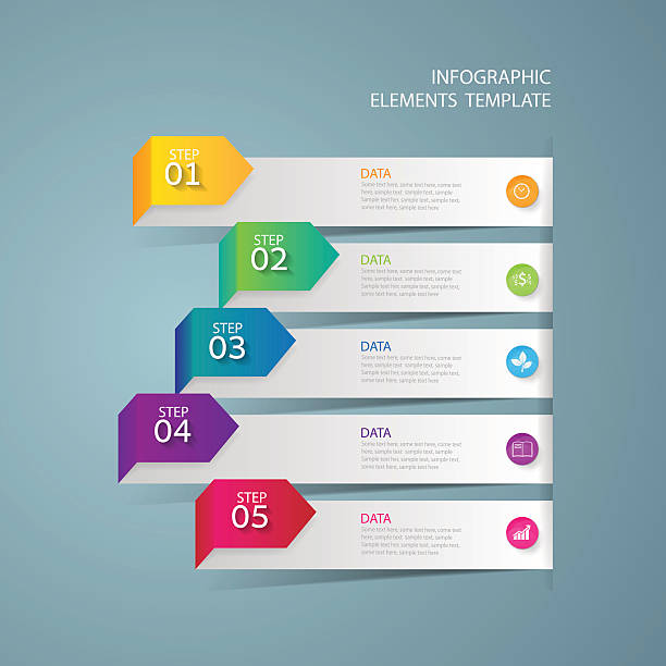 Infographic design template Business concept with 5 options Infographic design template and marketing icons, Business concept with 5 options five people stock illustrations