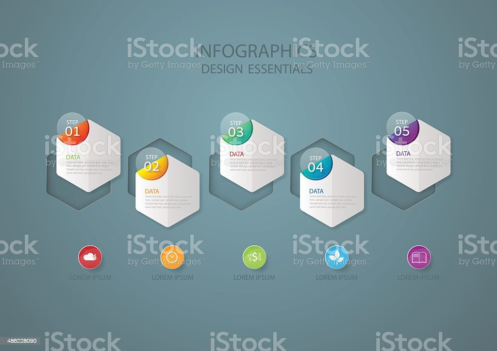 Infographic design template, Business concept with 5 options royalty-free infographic design template business concept with 5 options stock illustration - download image now