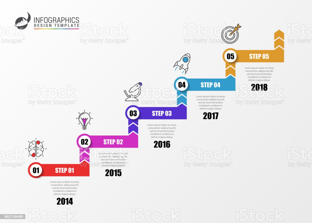 Infographic design template. Business concept with 5 steps royalty-free infographic design template business concept with 5 steps stock illustration - download image now