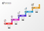 istock Infographic design template. Business concept with 5 steps 892249468