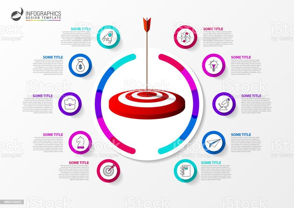 Infographic formgivningsmall. Affärsidén med målet - Royaltyfri Abstrakt vektorgrafik