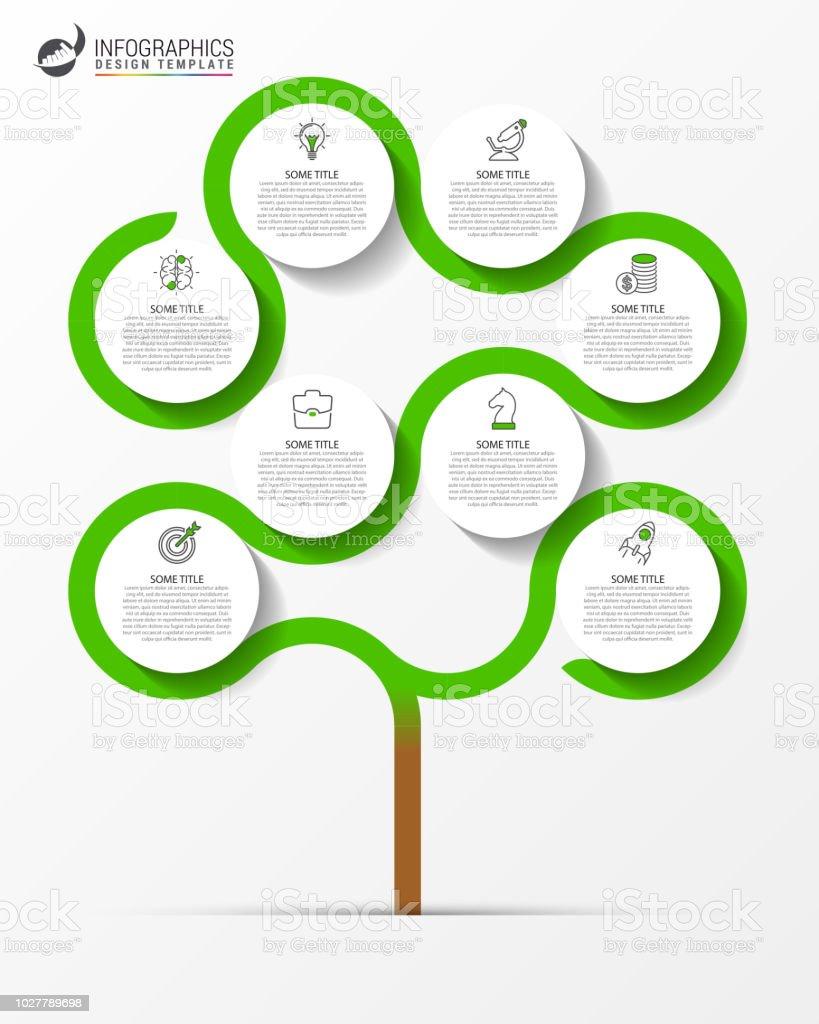Plantilla de diseño de infografía. Concepto creativo con 8 pasos - ilustración de arte vectorial