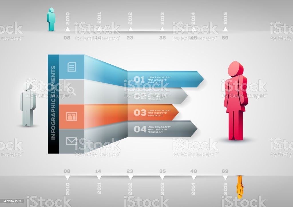Infographic design template royalty-free stock vector art