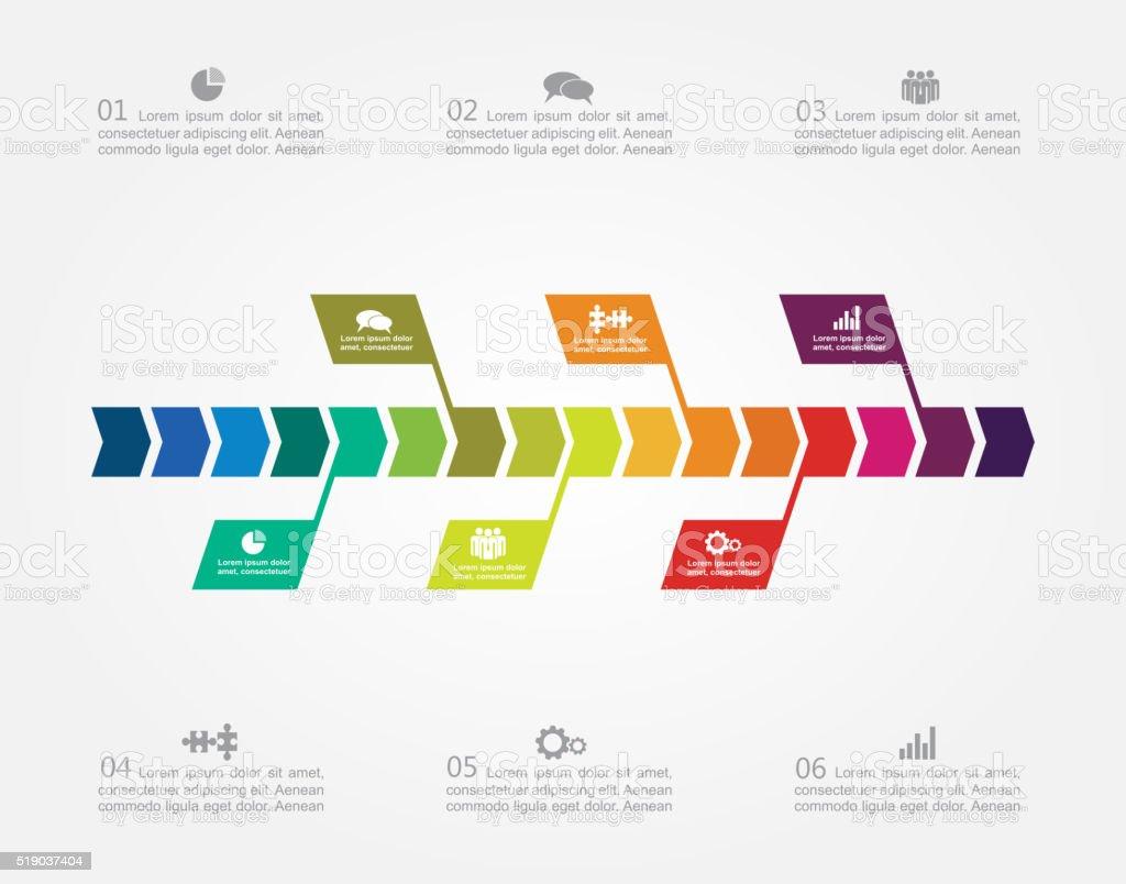 Ilustración de Infografía Diseño Plantilla Ilustración Vectorial y ...