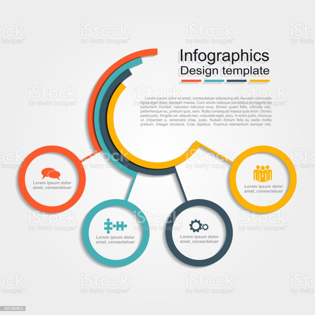 Infográfico modelo de projeto. Ilustração vetorial. - ilustração de arte em vetor