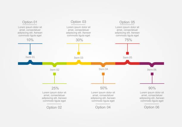 인포그래픽 디자인 템플릿. 벡터 삽화. - timeline stock illustrations