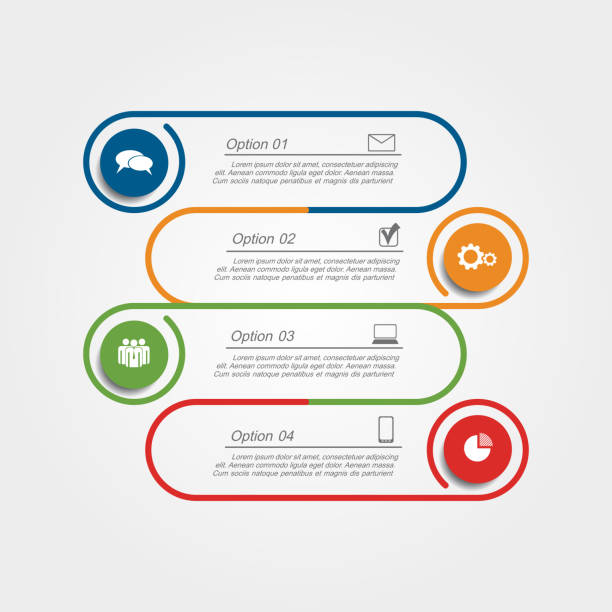 infographic design template. vector illustration. - part of a series stock illustrations, clip art, cartoons, & icons