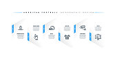 Infographic design template with american football keywords and icons