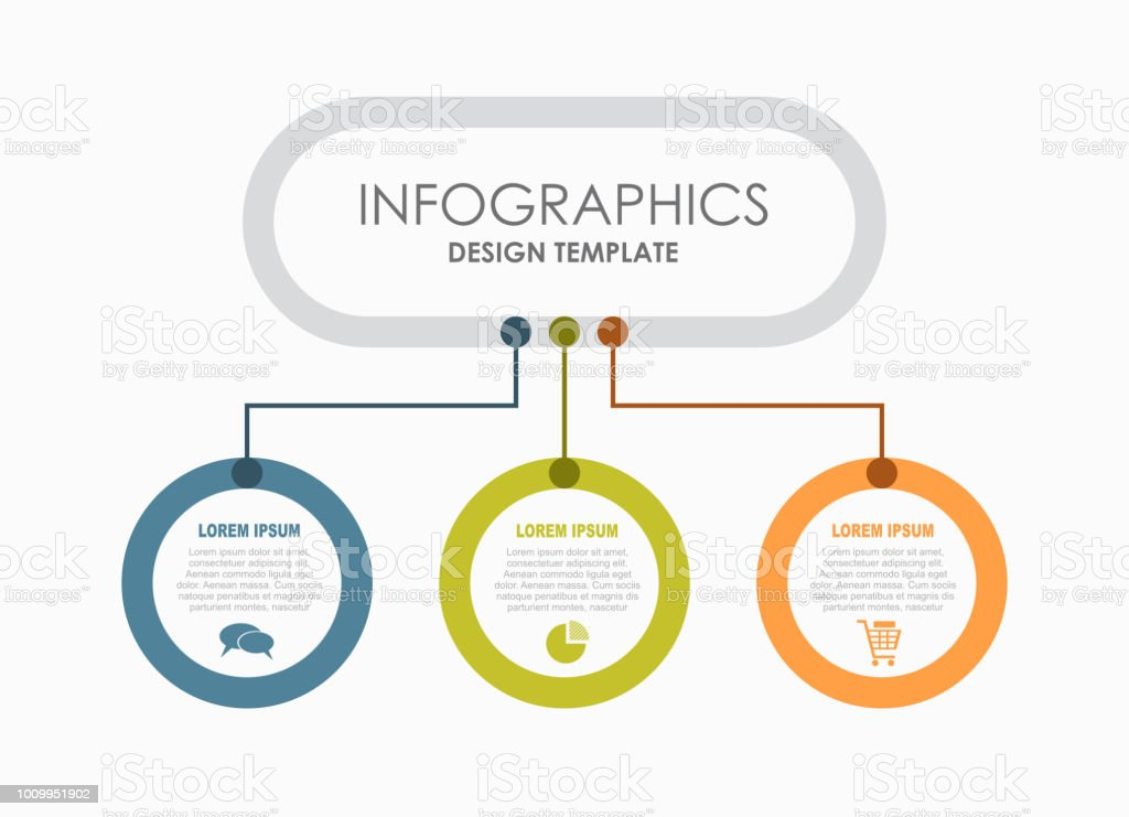 Infographic design template with place for your data. Vector illustration. - illustrazione arte vettoriale