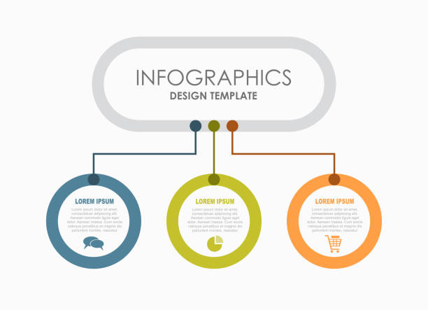 Bекторная иллюстрация Infographic design template with place for your data. Vector illustration.