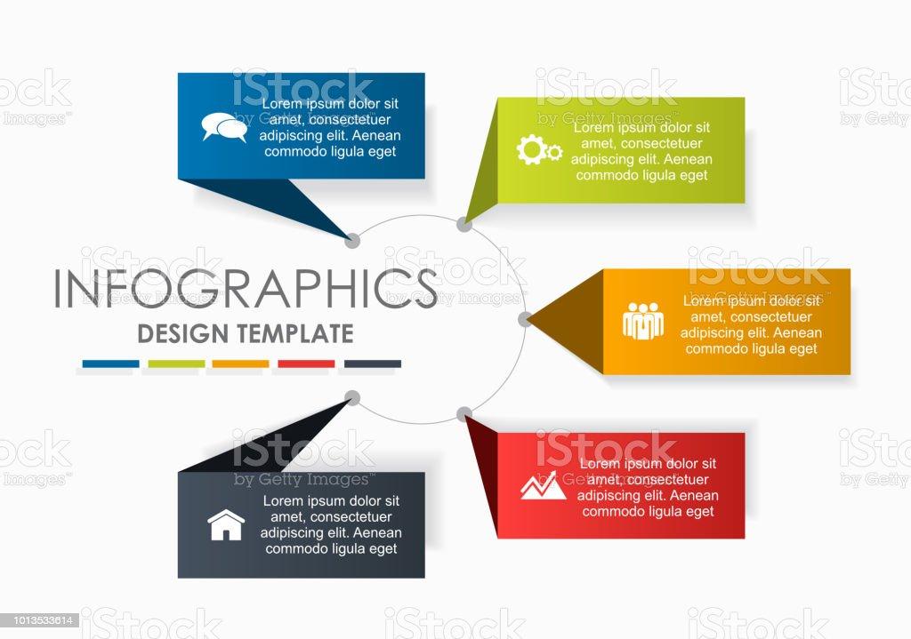 Infographic design template with place for your data. Vector illustration. – artystyczna grafika wektorowa