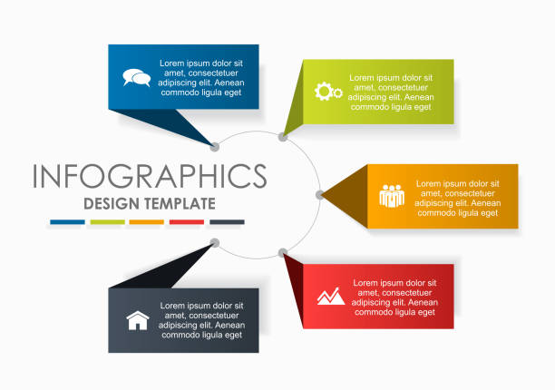 Infographic design template with place for your data. Vector illustration. – artystyczna grafika wektorowa