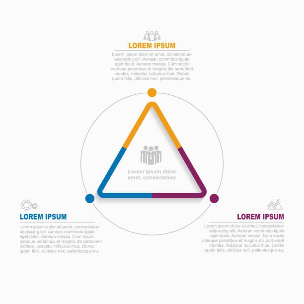 資訊圖表設計範本與地方為您的資料。向量圖。 - 三角形 幅插畫檔、美工圖案、卡通及圖標