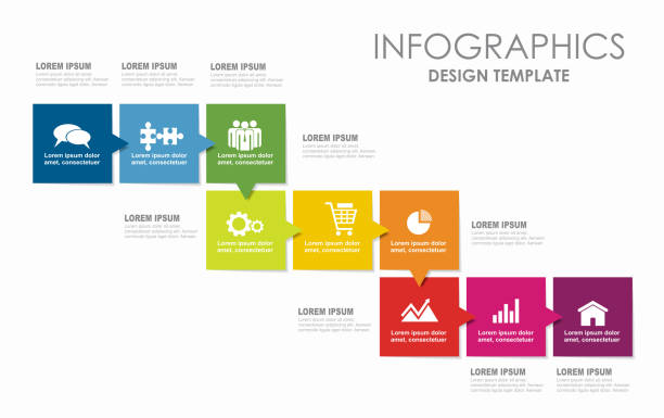 infographic design template with place for your data. vector illustration. - motion stock illustrations