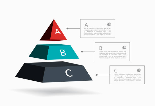 infographische designvorlage mit platz für ihre daten. vector illustration. - geometriestunde grafiken stock-grafiken, -clipart, -cartoons und -symbole